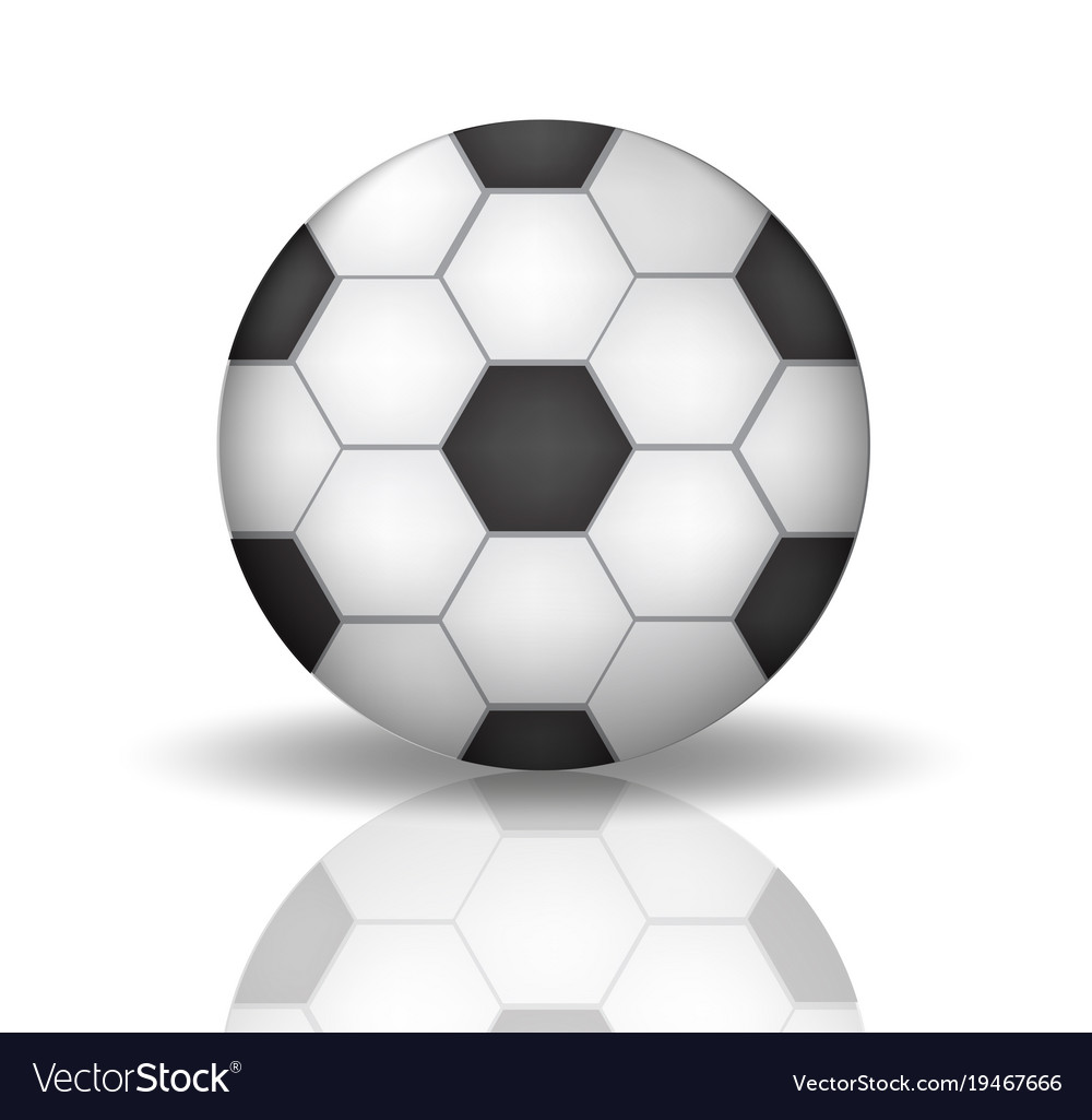 Soccer ball icon in realistic 3d style football