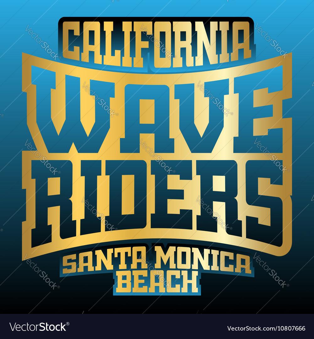 Wave riders typography graphics