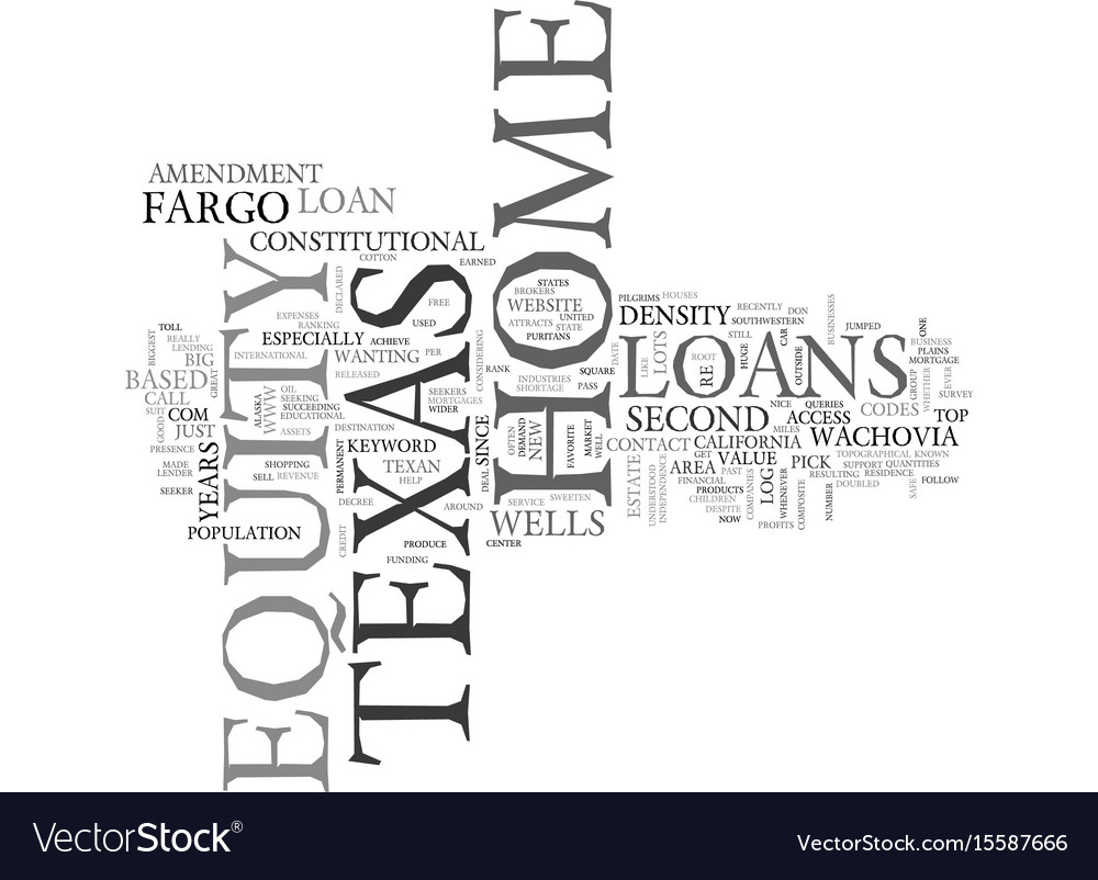 Z home equity loans in texas text word cloud