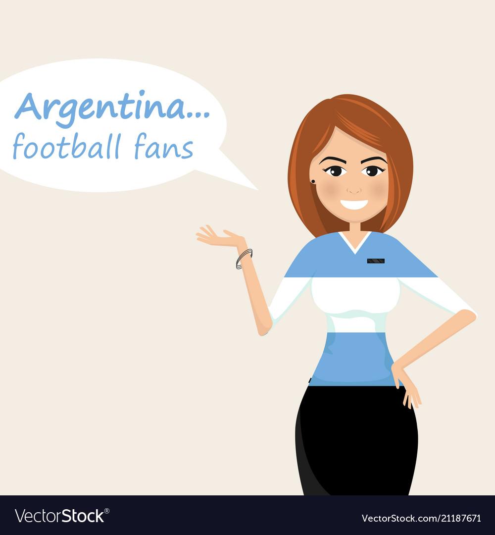 Argentina football fanscheerful soccer fans