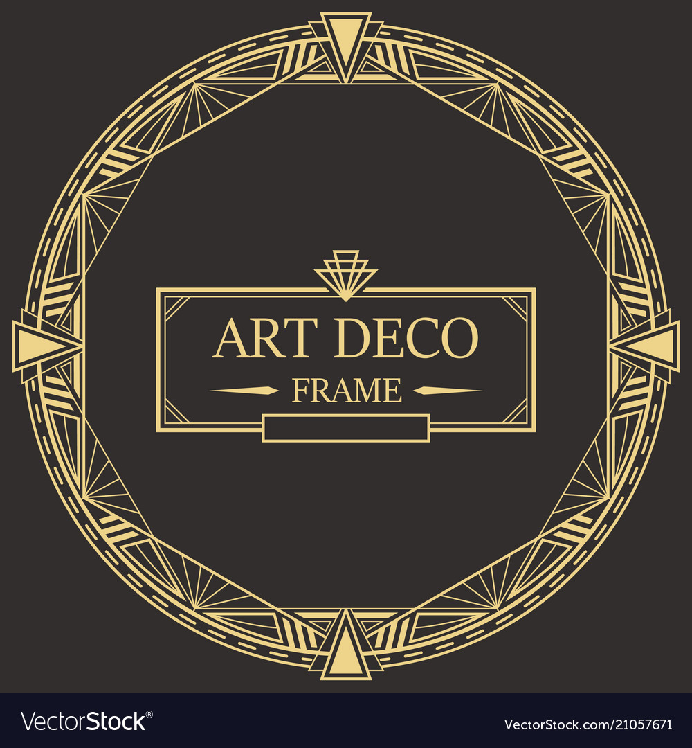 art deco border and frame template royalty free vector image