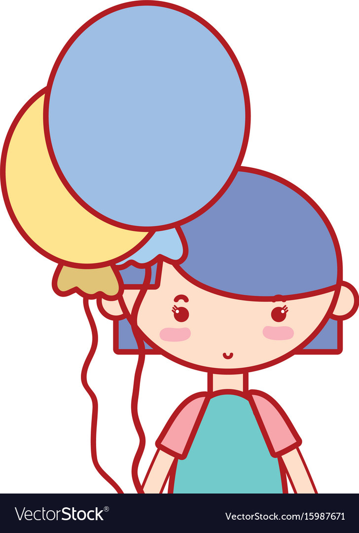 Beauty girl with balloons and hairstyle design