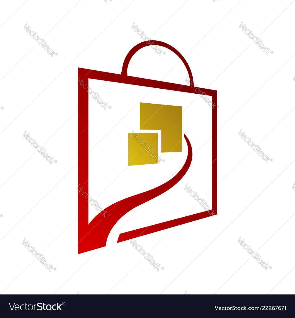 Square bag online shop logo for business