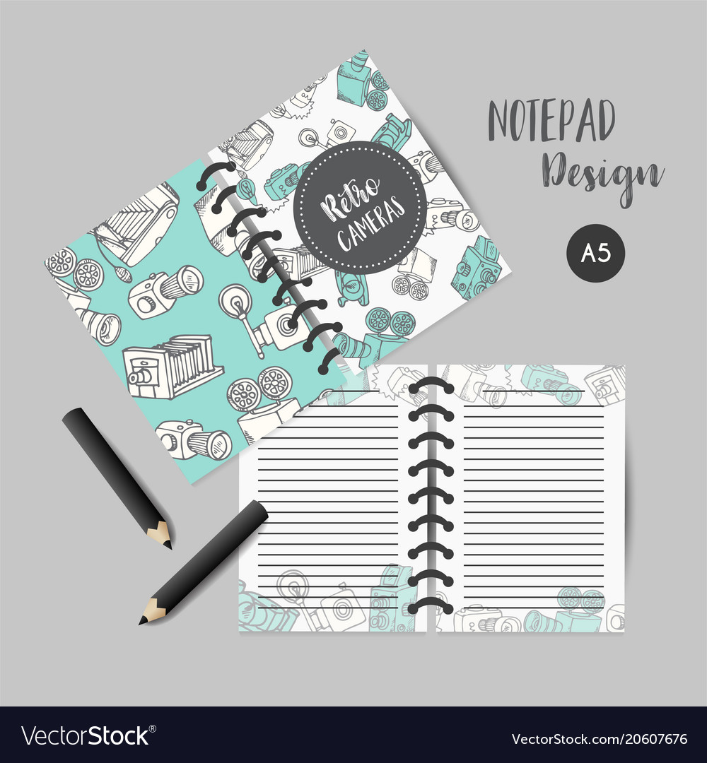 Calendar daily and weekly planner template note