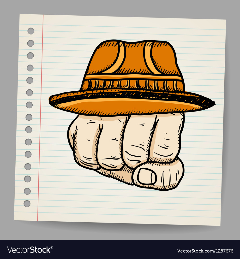 Doodle fist with hat