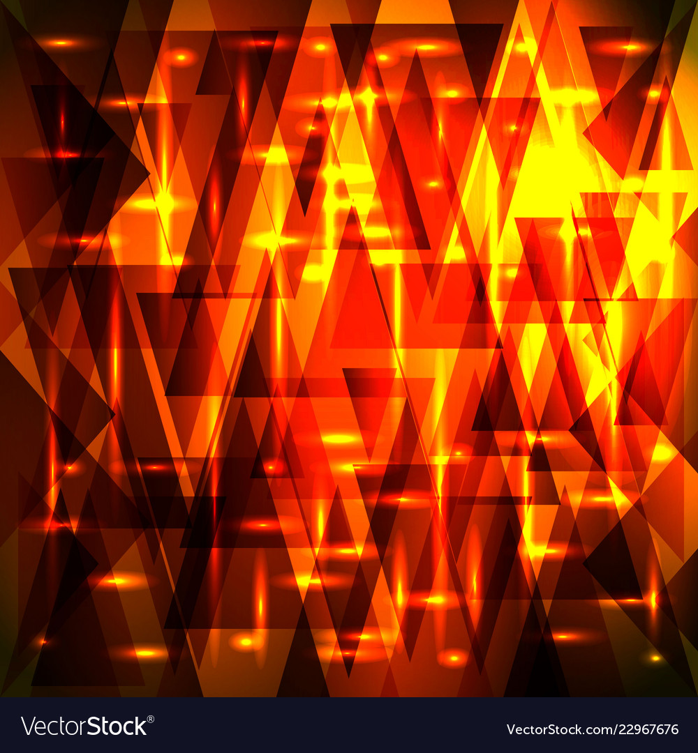 luxury golden red pattern of shards and triangles vector image