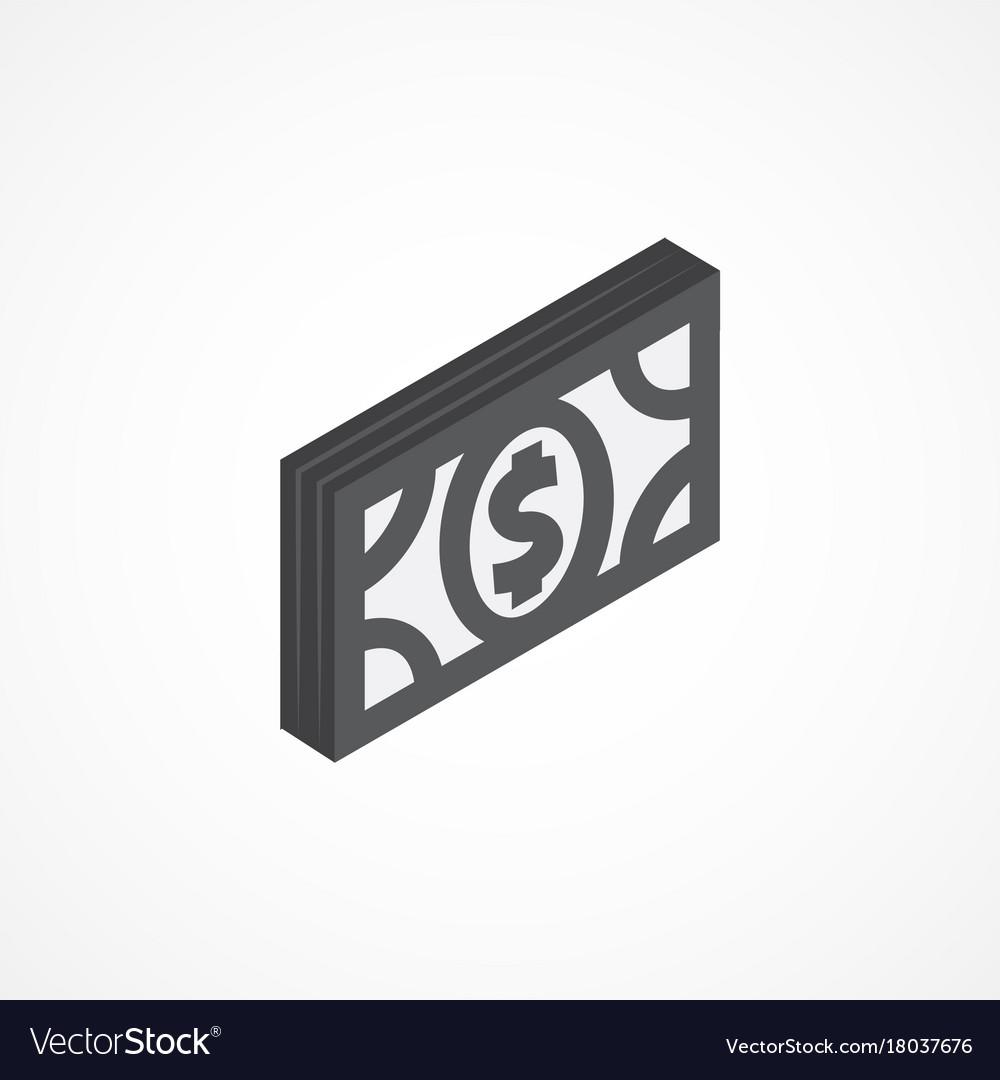 Money isometric icon 3d