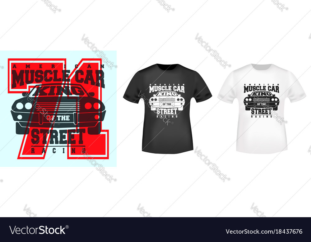 e1e50fa4 T-shirt print design Royalty Free Vector Image