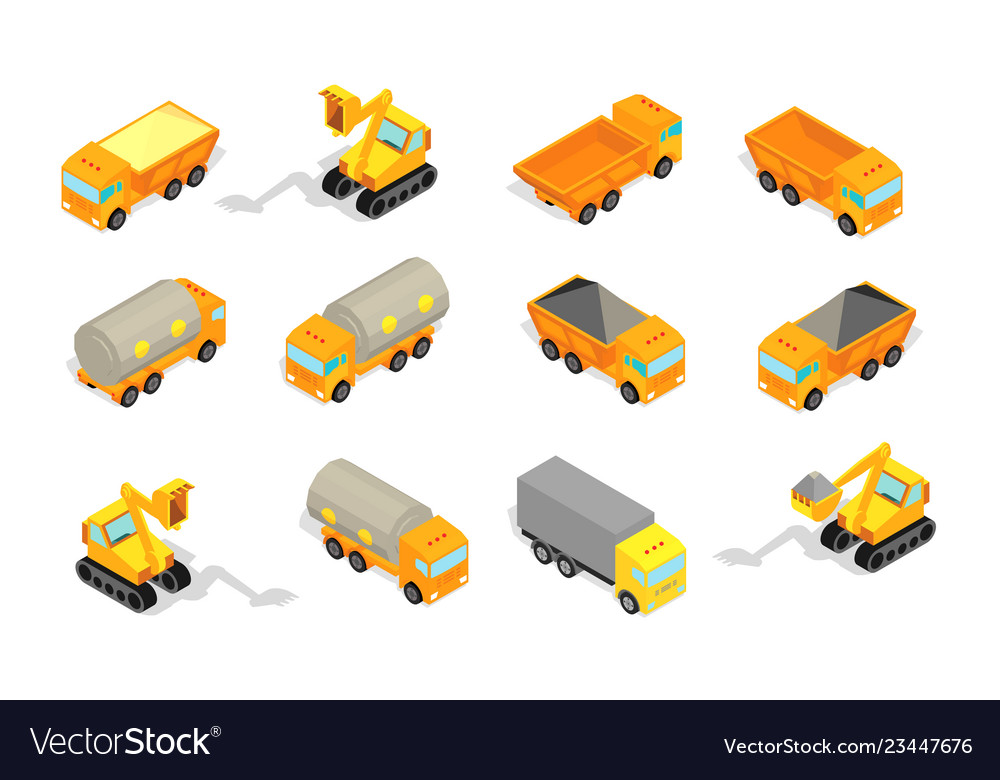 Truck set delivery industry and construction