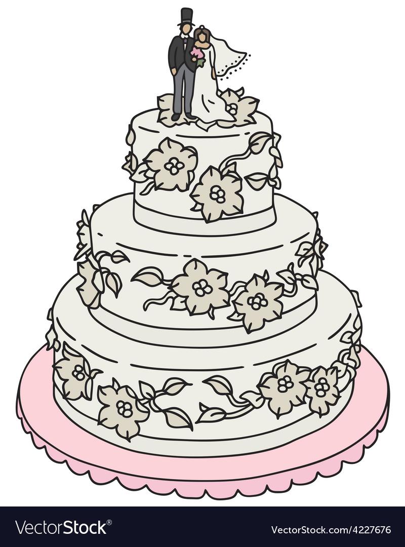 Wedding Cake Royalty Free Vector Image Vectorstock