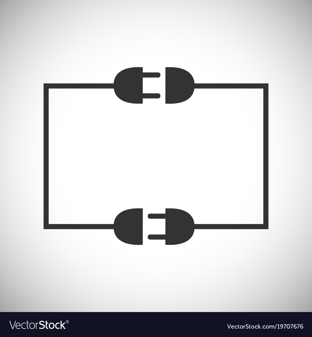 Wire Plug And Socket Royalty Free Vector Image Sockets Wiring For Electricity Stock