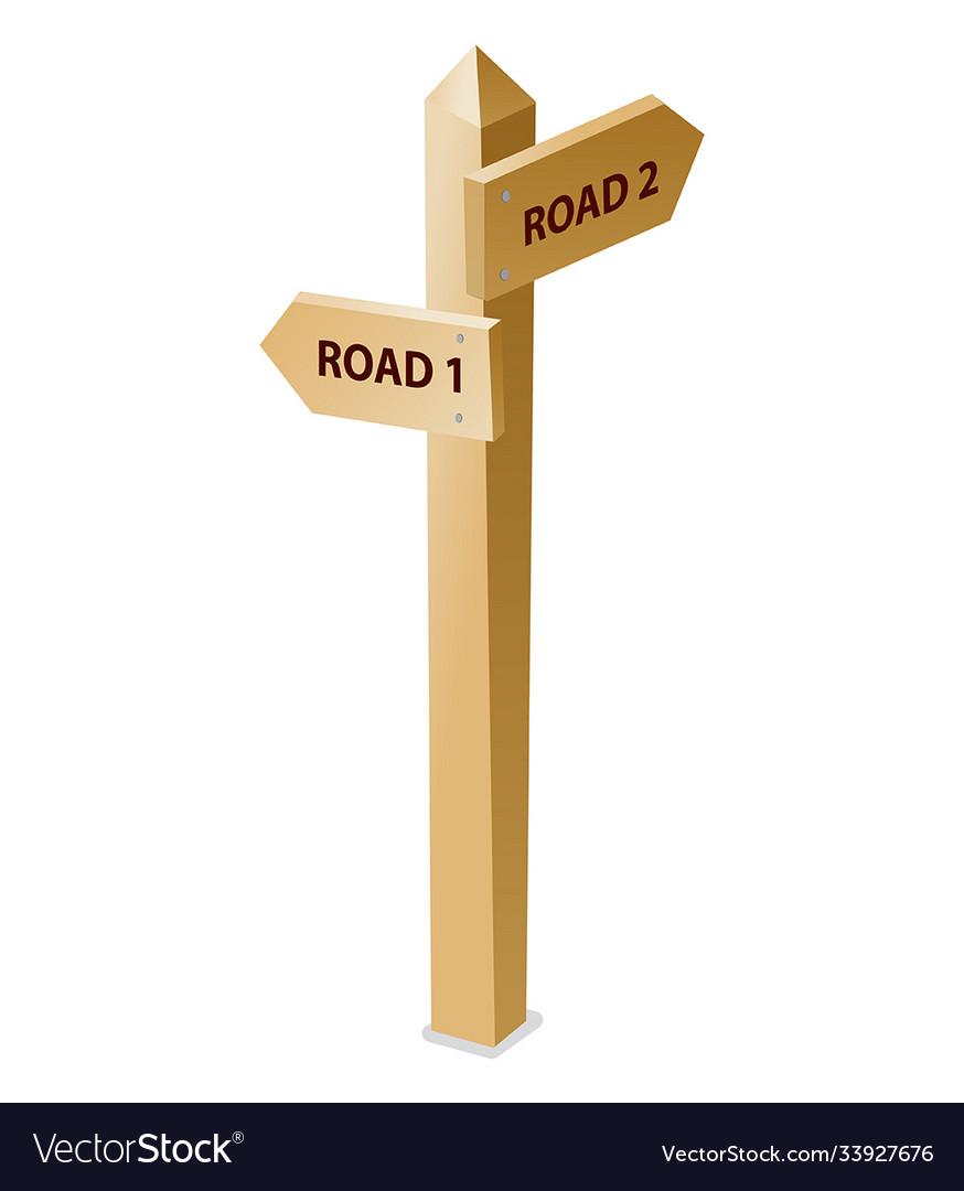Wooden guidepost