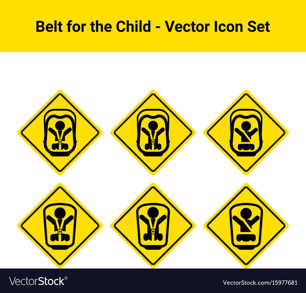 Car belt for the child isolated on a white vector image