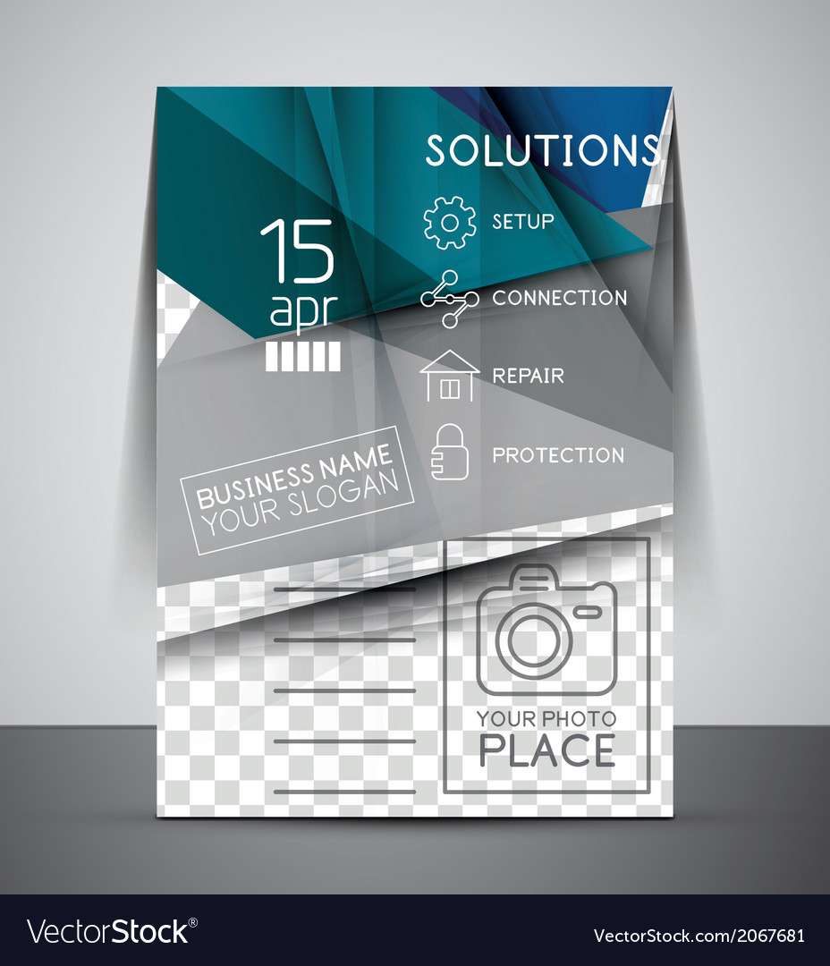 Cmyk Business Corporate Flyer Template Royalty Free Vector