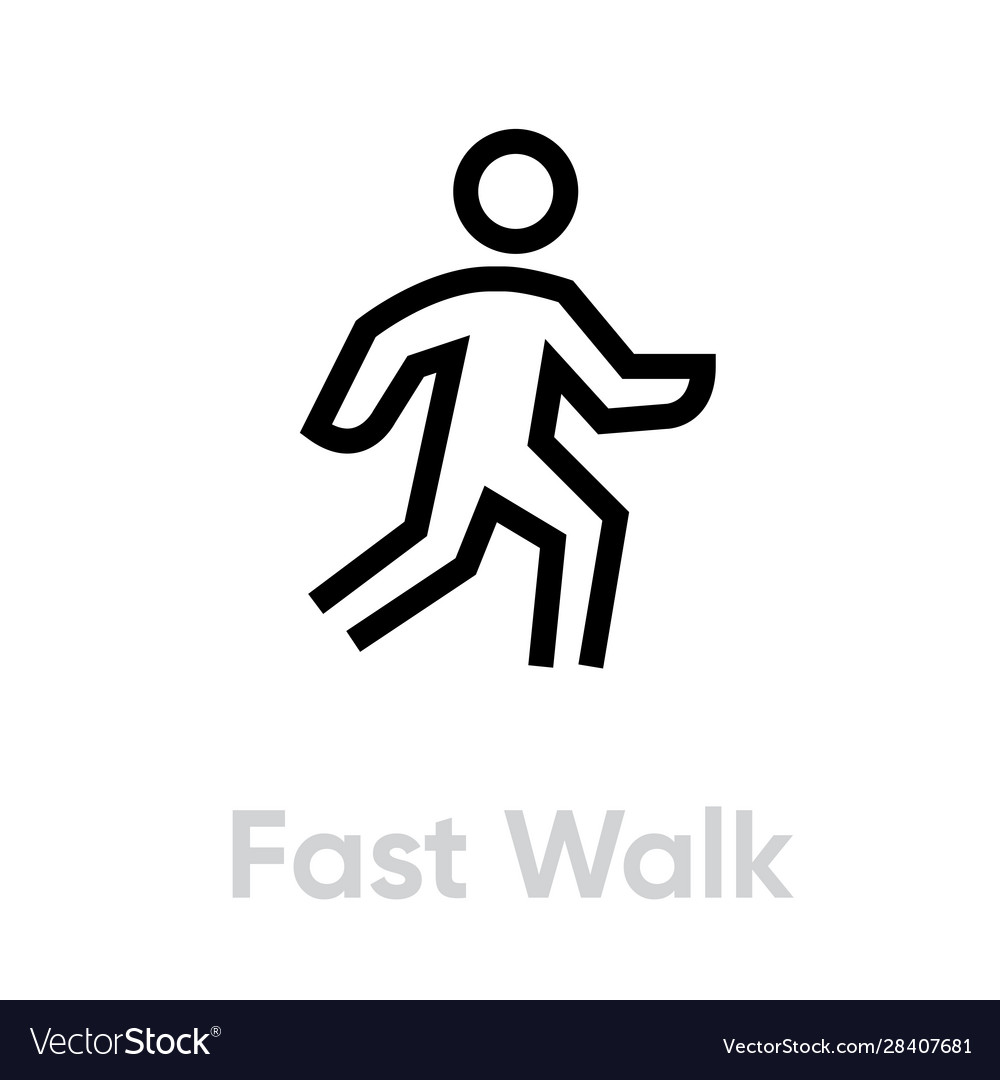 fast walk icon royalty free vector image vectorstock vectorstock
