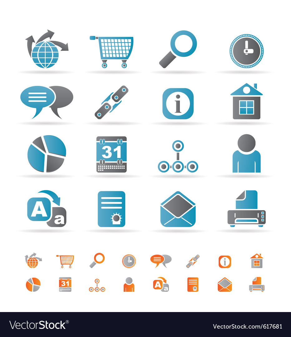 Internet and computer icons