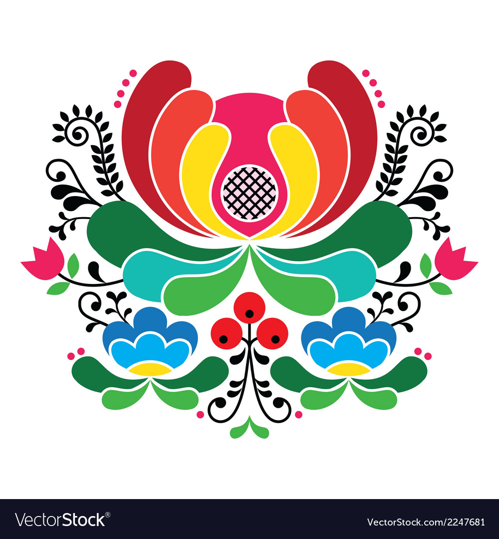Norwegian Folk Art Pattern Rosemaling Embroidery