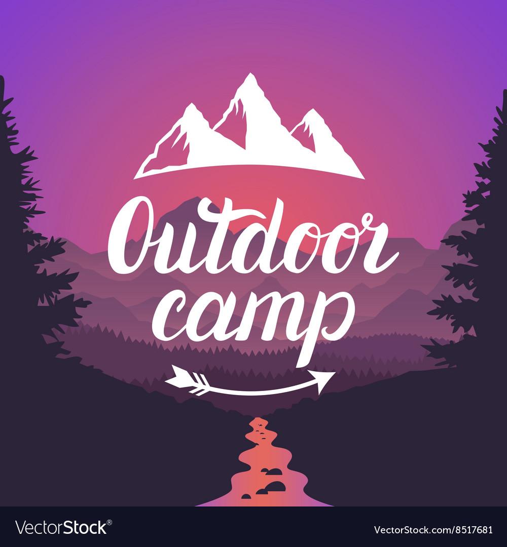 Outdoor camp logo Outdoor camp emblem Design