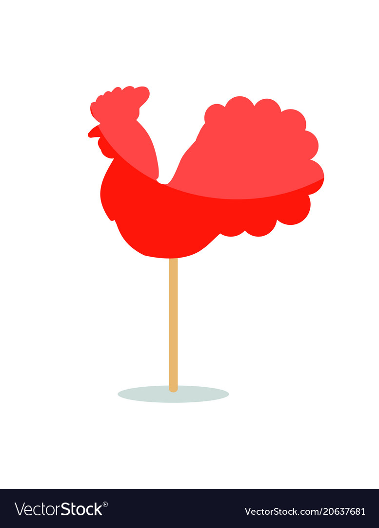 Red peacock lollipop icon