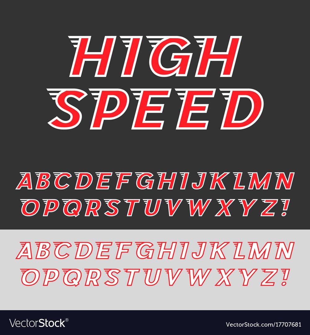 Speed dynamic italic font