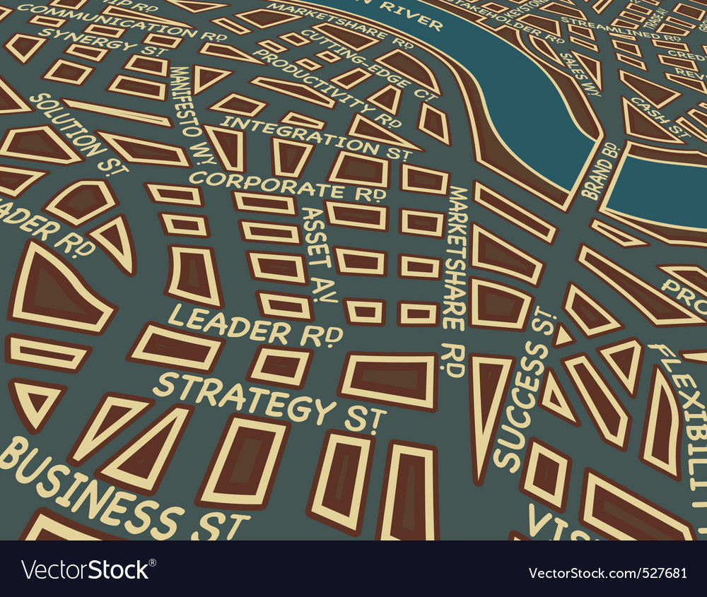 Success street vector image
