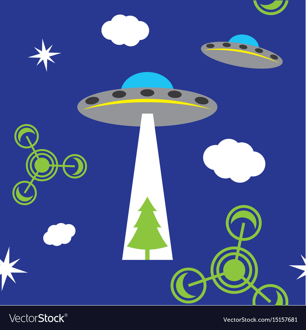 Ufo pattern vector image