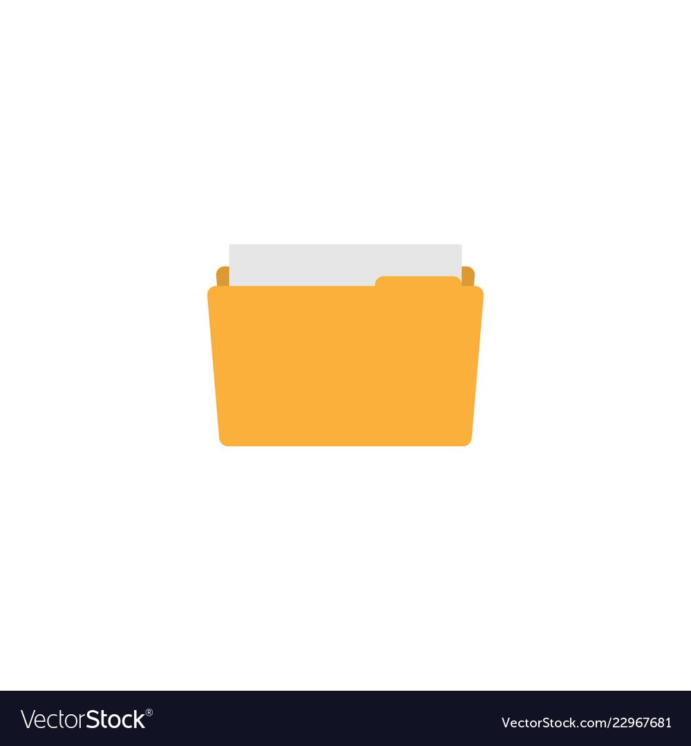 Yellow folder graphic design template