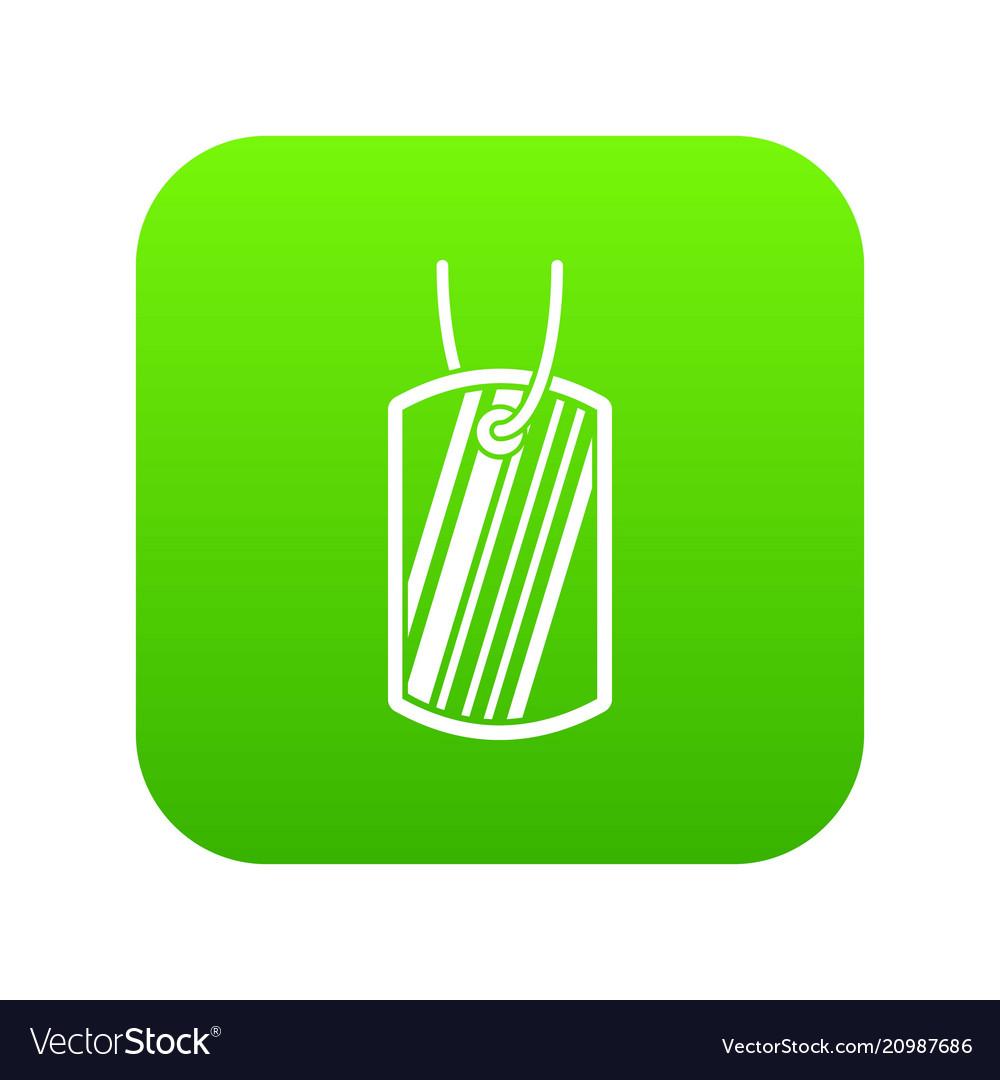 Army badge icon digital green