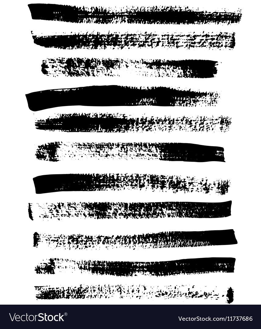 Black and white sponge print striped grunge vector image