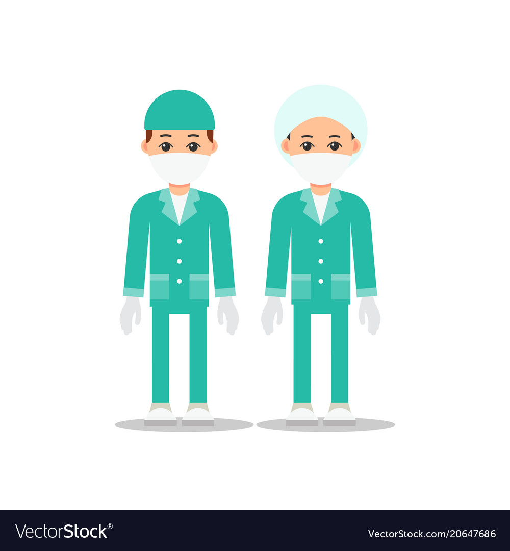 Doctors doctor man and woman in uniform for