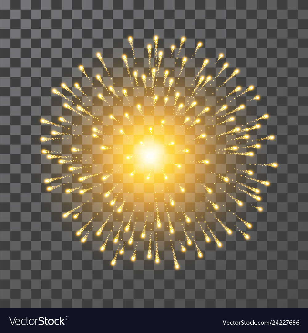 Fireworks festival gold firework llustration on