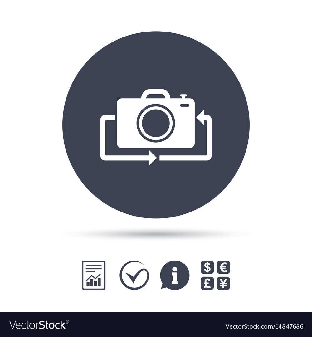 Front photo camera sign icon change symbol