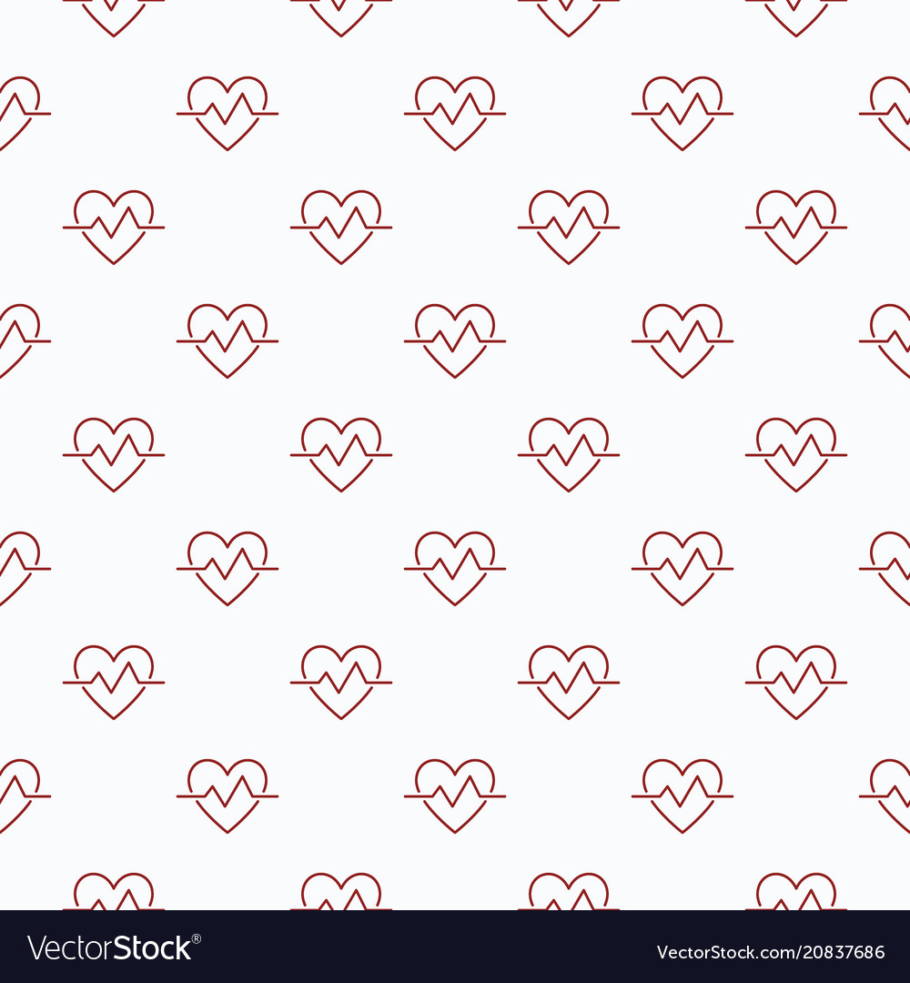 Heartbeat seamless pattern or background