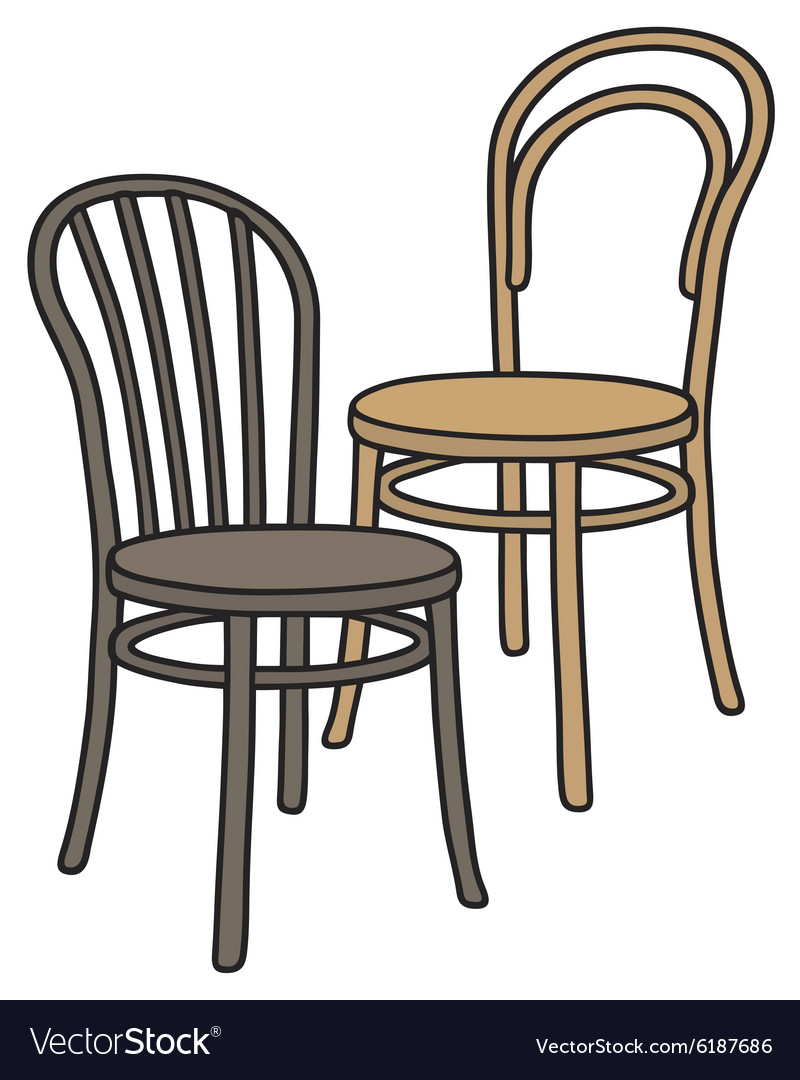 Old wooden chairs vector image  sc 1 st  VectorStock : retro wooden chairs - Cheerinfomania.Com