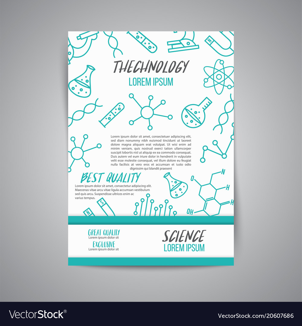 Science poster on white background research
