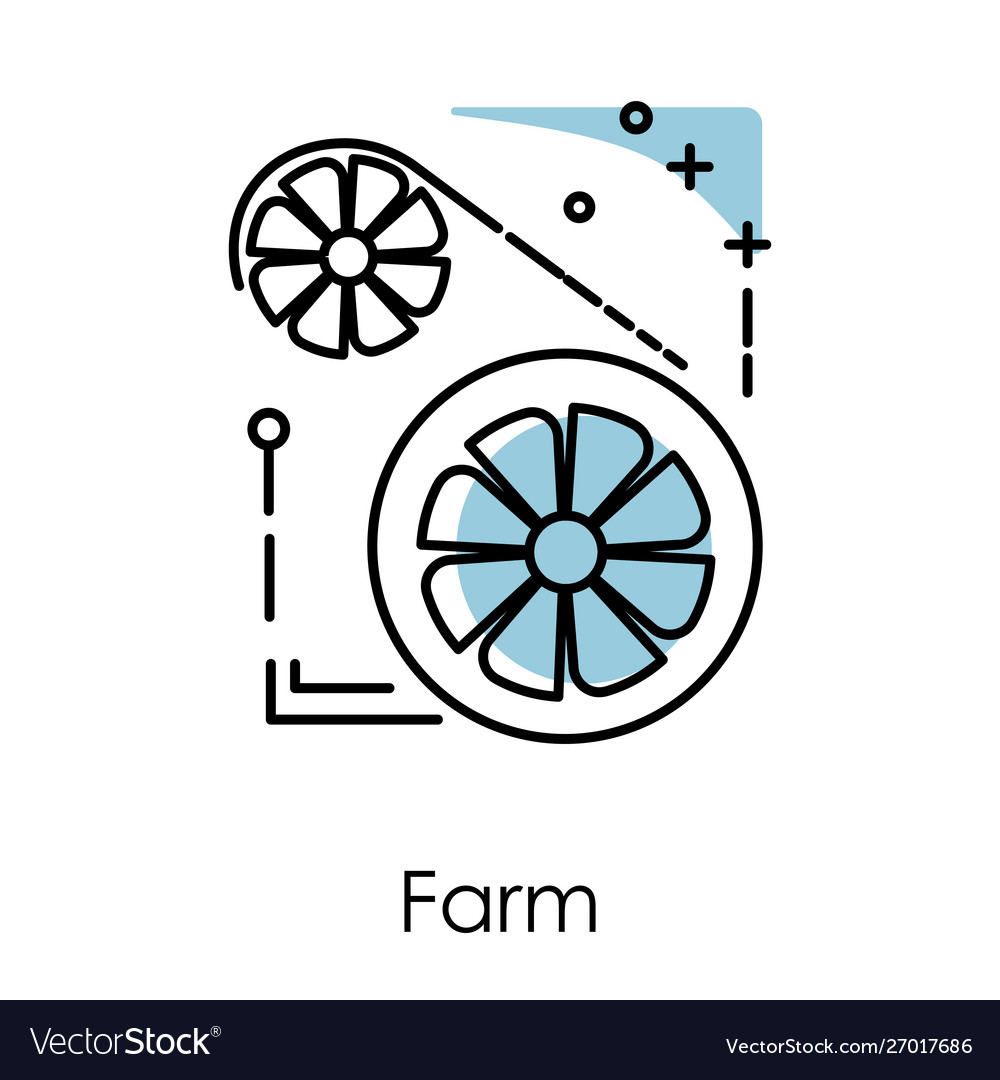Video card server farm isolated icon