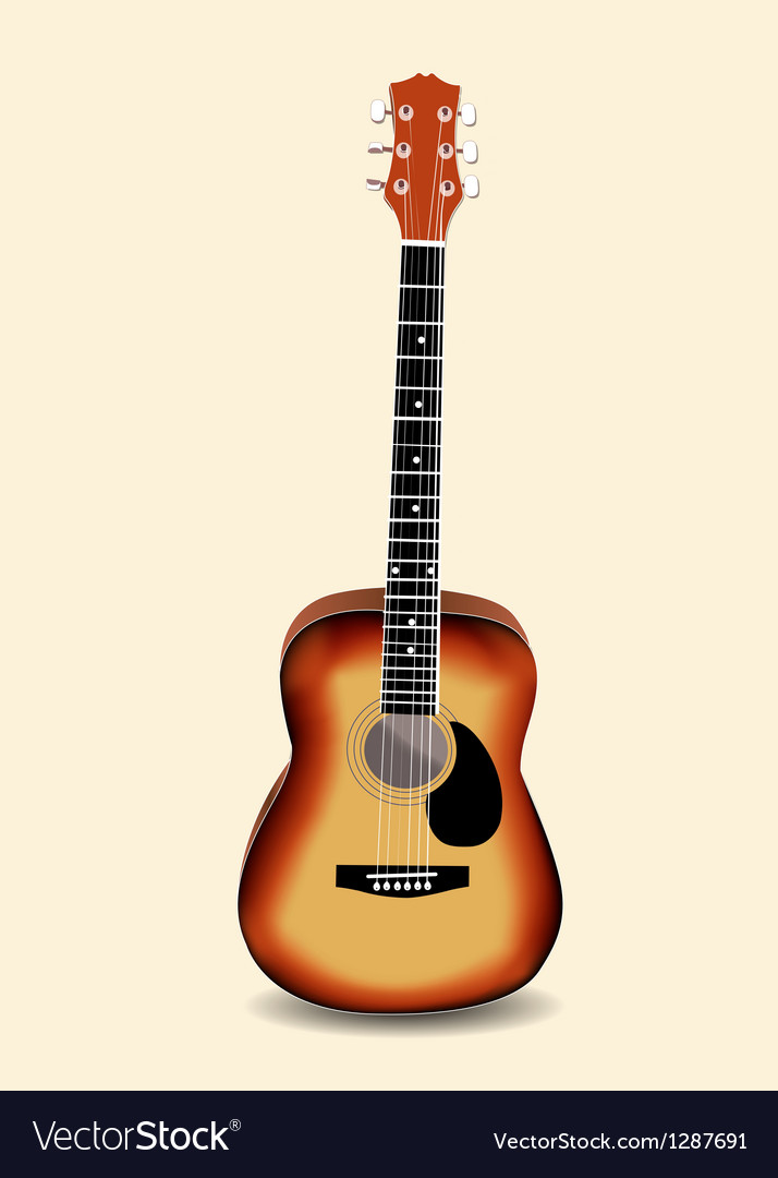 acoustic guitar royalty free vector image vectorstock rh vectorstock com acoustic guitar vector free download acoustic guitar vector png