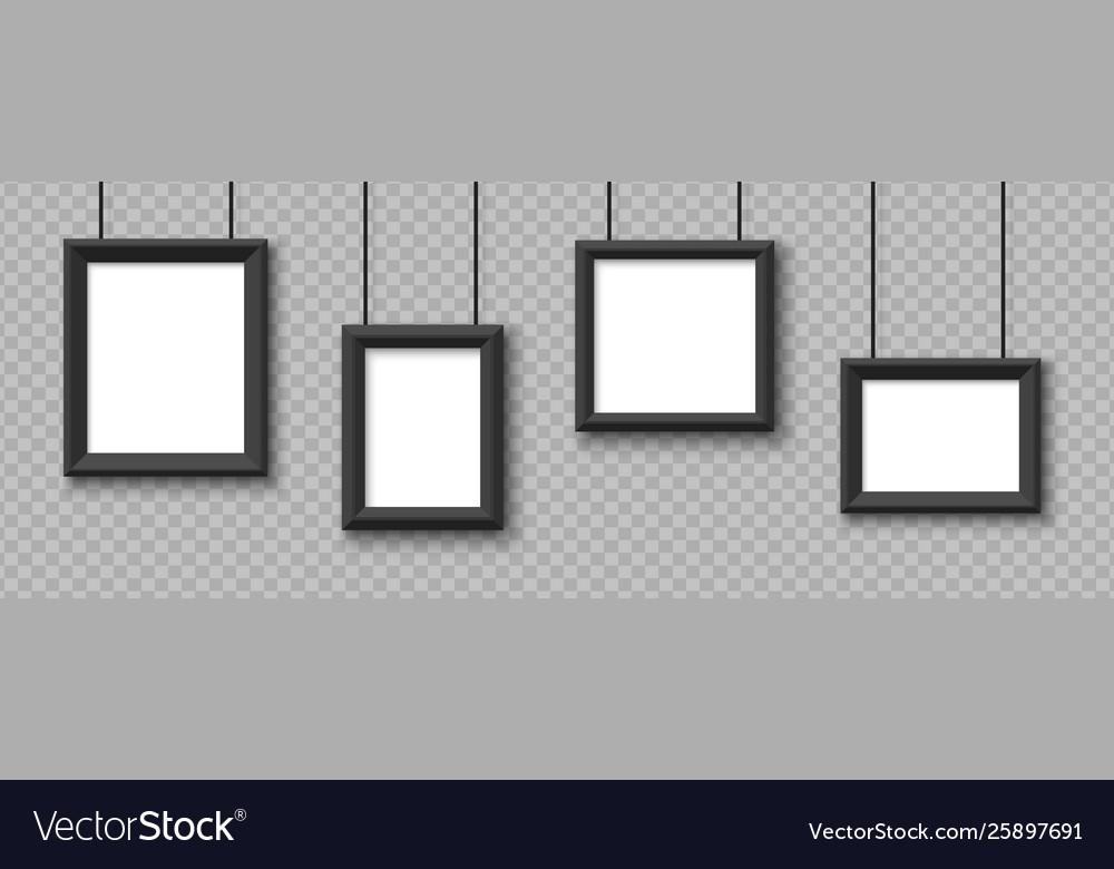 Blank hanging frames pictures photo frames
