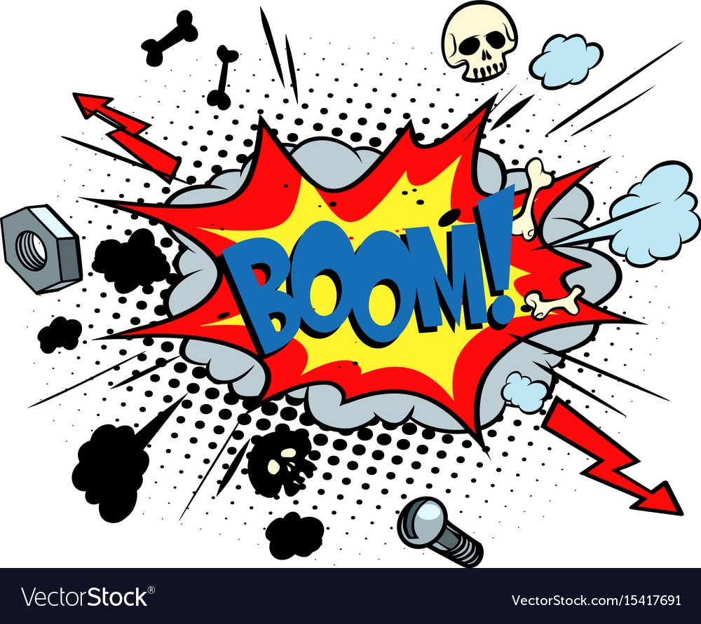 boom comic pop art bubble royalty free vector image