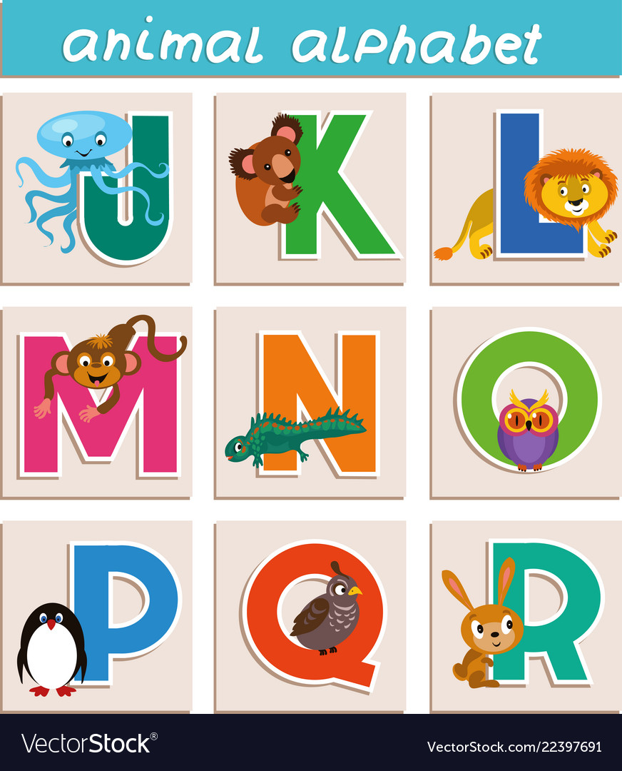 Cartoon animal alphabet
