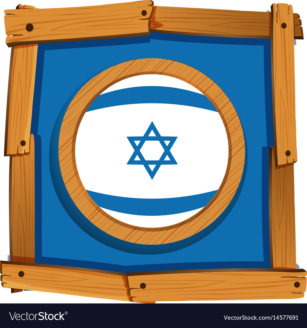 Flag icon design for israel vector image