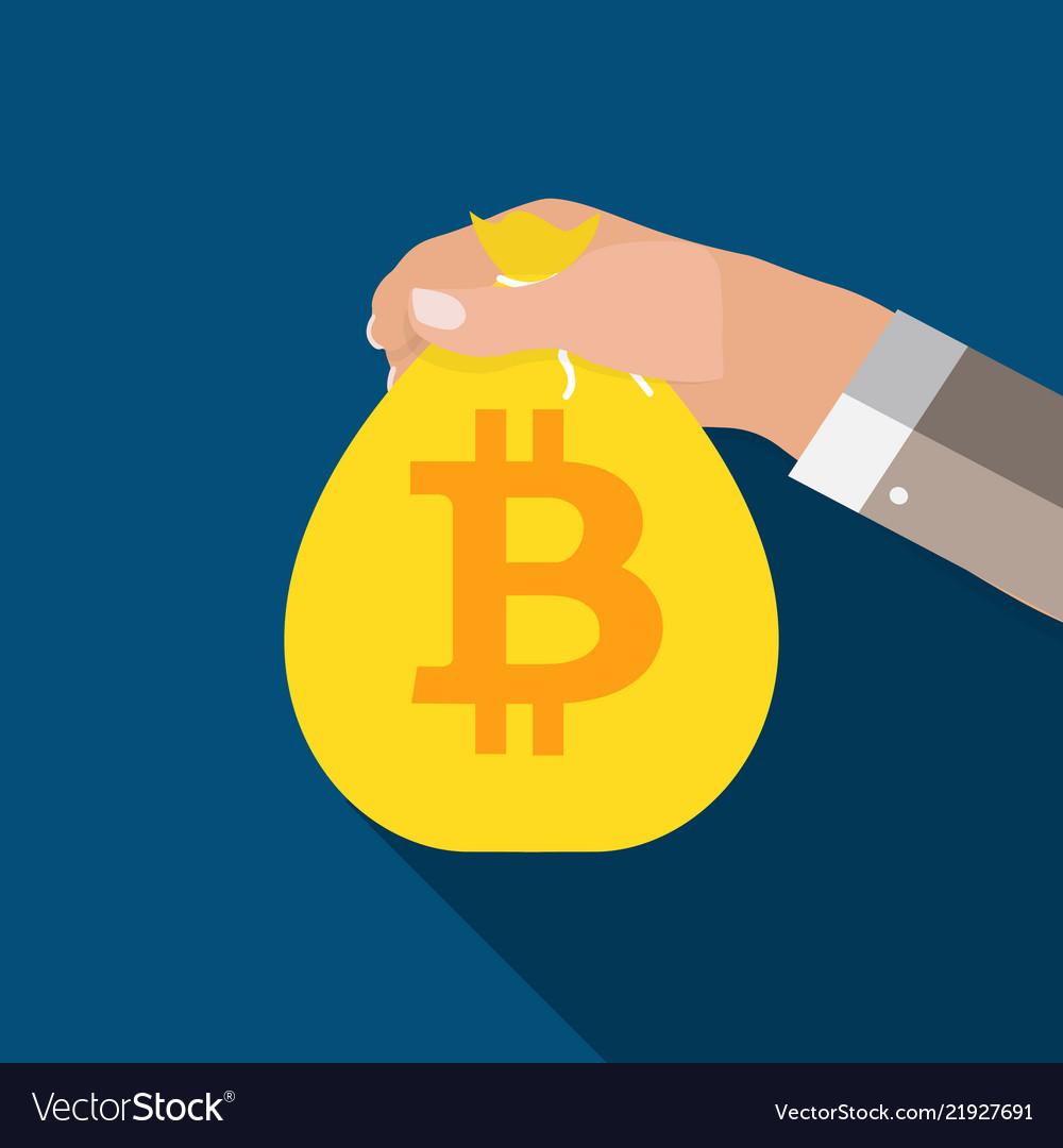 Flat modern design concept of bitcoin