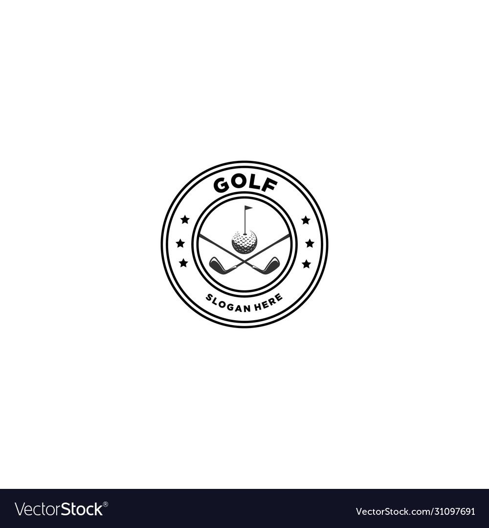 Golf emblem logo