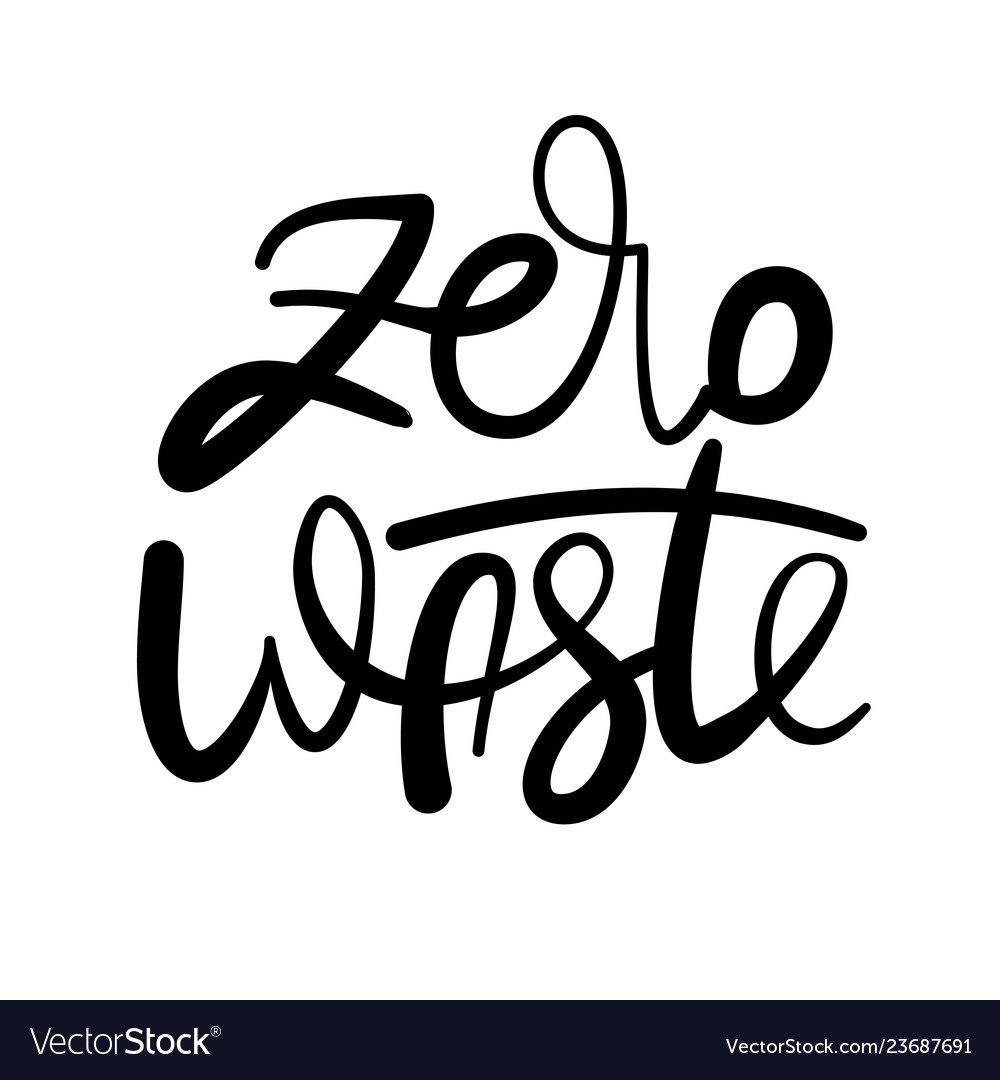 Lettering poster - zero waste ink on white