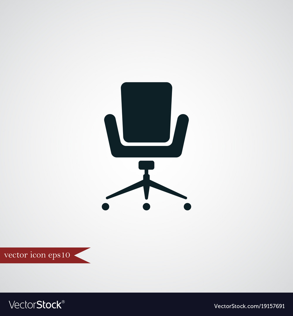 simple office chair. Office Chair Icon Simple Vector Image