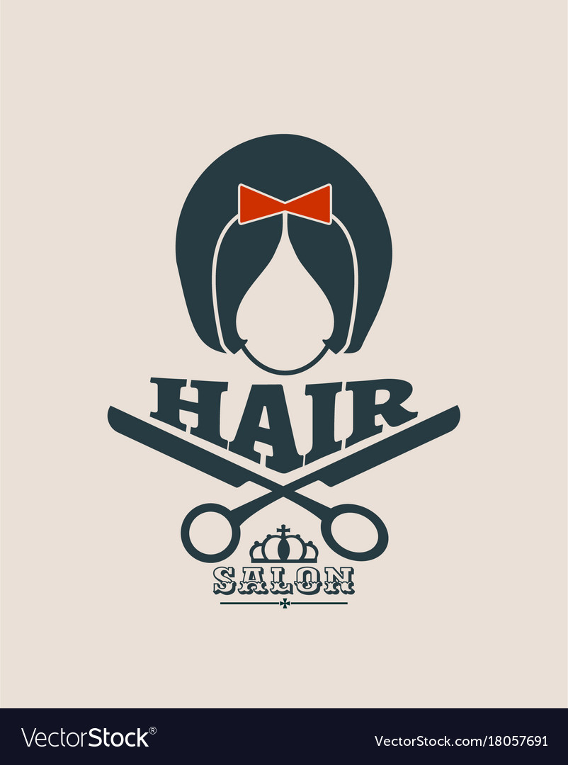 Silhouette of a girl retro style hair