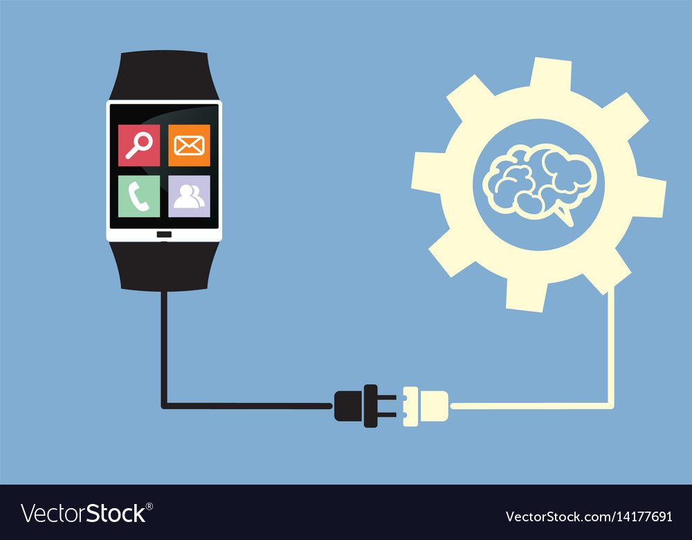Smart watch connected to brain