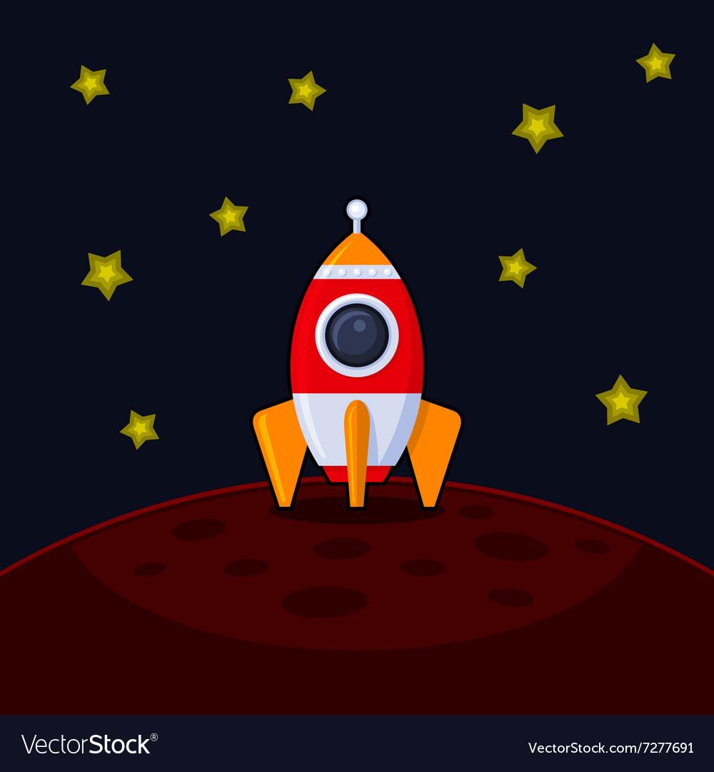 Space Rocket Landing on Mars