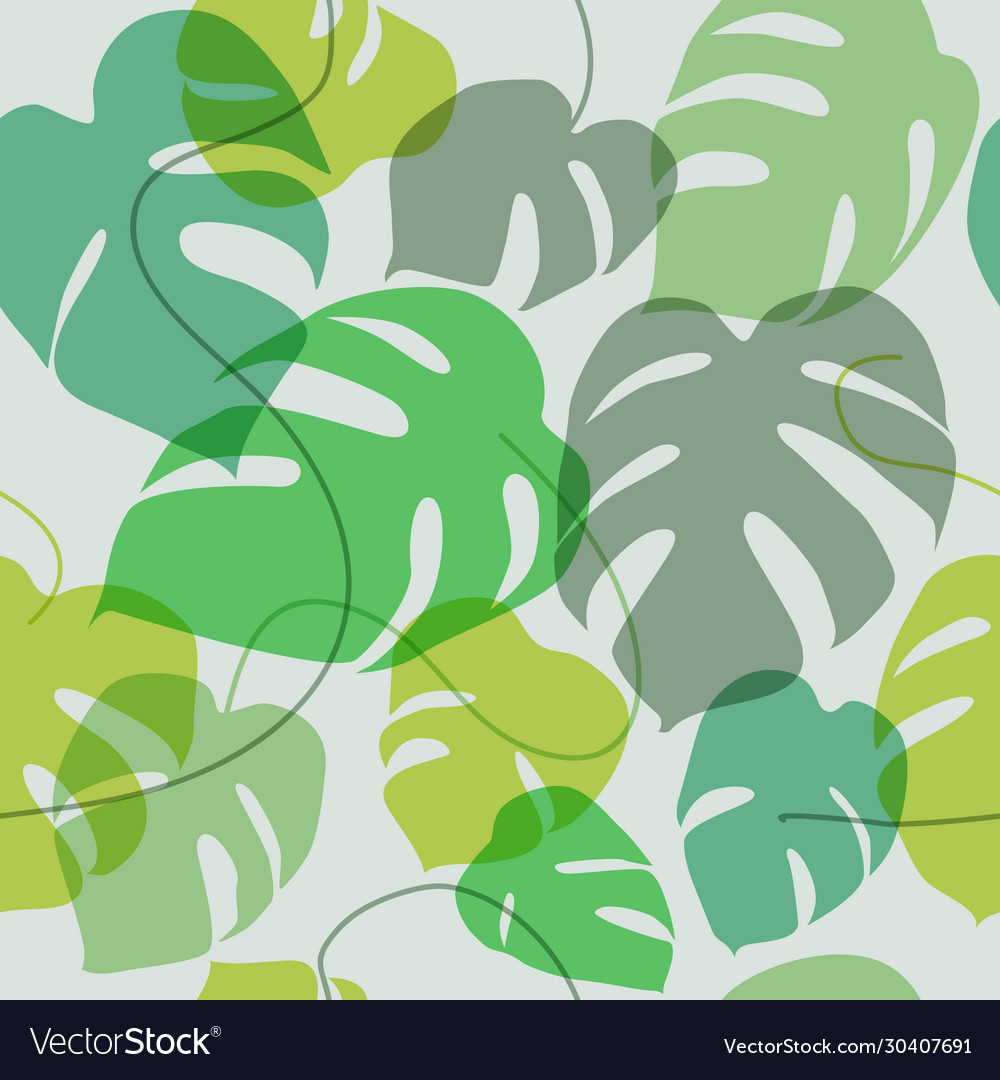 Wallpaper exotic leaves - seamless pattern