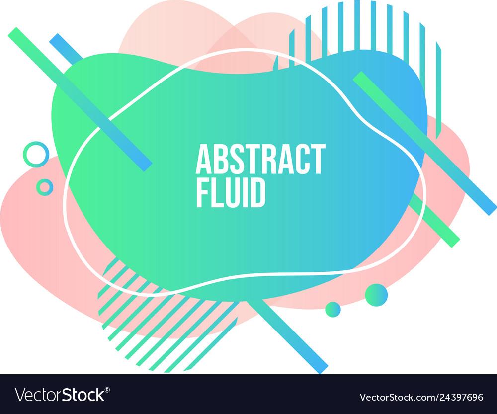 Abstract liquid shape fluid design isolated